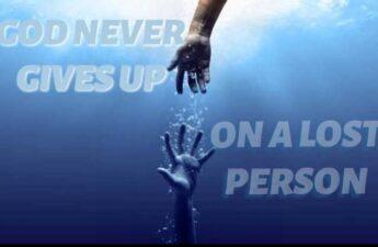 GOD NEVER GIVES UP